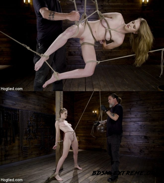 Hardcore Bondage and Domination Makes Ashley Lane A Happy Slut! With Ashley Lane (2019/HD) [HOGTIED]