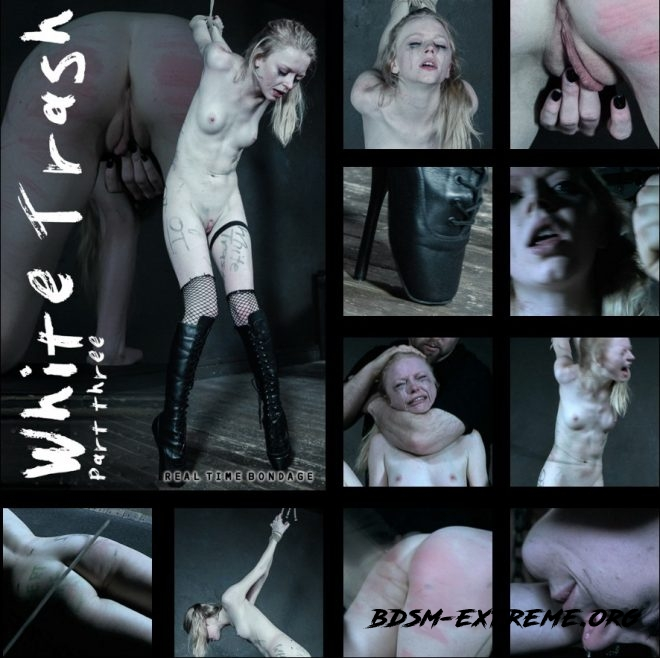White Trash Part 3 - Alice gets whipped, caned, spanked, and has an orgasm. With Alice (2019/HD) [REAL TIME BONDAGE]