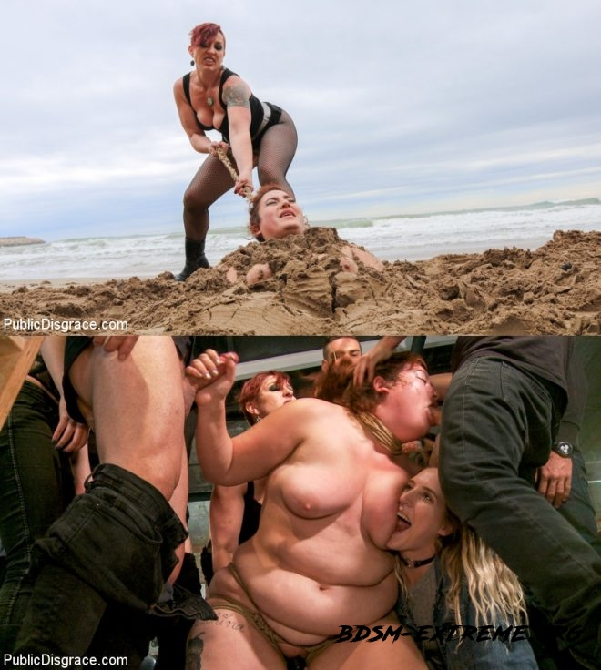 BBW Mimosa Sacrifices Every Last Dread of Dignity With Mimosa, Tommy Pistol, Mistress Kara, Max Cortes, Juan Lucho (2019/HD) [PUBLIC DISGRACE]