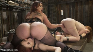Bella Rossi, Violet Monroe and Emma Heart (2019/HD) [WHIPPED ASS]