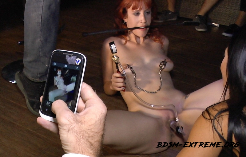 Redheaded slut beautifully disgraced on streets of Madrid With Lilyan Red, Sandra Romain, Steve Holmes (2014/SD) [Kink]