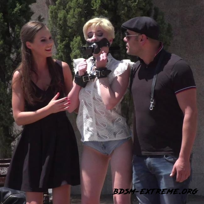 Petite Whore Molly Saint Rose Fucked and Humiliated in Public Plaza!! With Tina Kay, Molly Saint Rose (2018/HD) [Kink, PublicDisgrace]