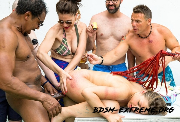 Gorgeous Russian slave girl Selvaggia gets tortured in group BDSM session With Selvaggia (2018/FullHD) [CrowdBondage, PornDoePremium]