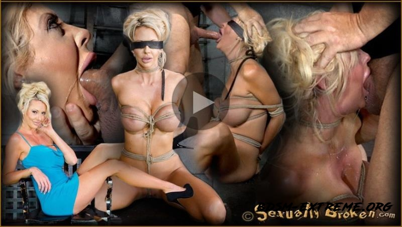 Big titted blonde Courtney Taylor bound blindfolded and facefucked, epic drooling deepthroating! With Courtney Taylor, Matt Williams (2014/HD) [SexuallyBroken]