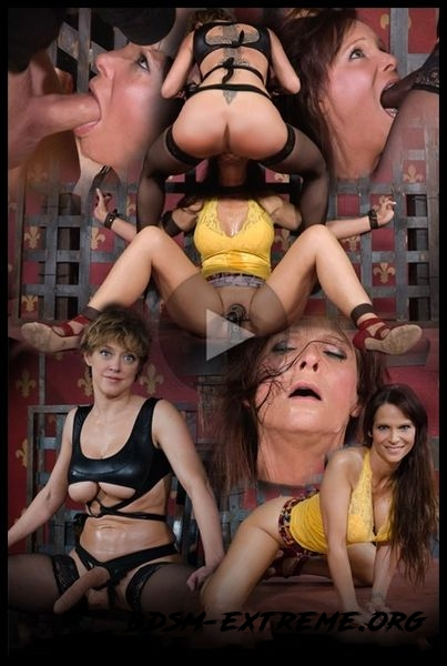 Hot Cougar is bound, face fucked and made to cum over and over. Brutal deep throat, massive orgasms! (2016/HD)