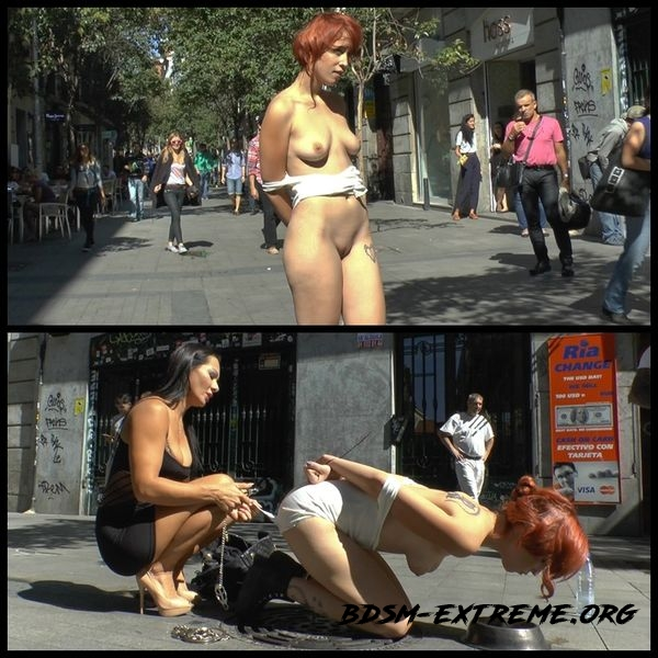 Spanish redheaded floozy beautifully humiliated in Madrid (2020/HD)