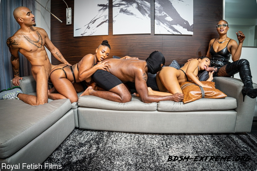 BDSM With King Noire, Jet Setting Jasmine, Sarah Lace, Avery Jane, The Boy (2020/FullHD) [RoyalFetishFilms]